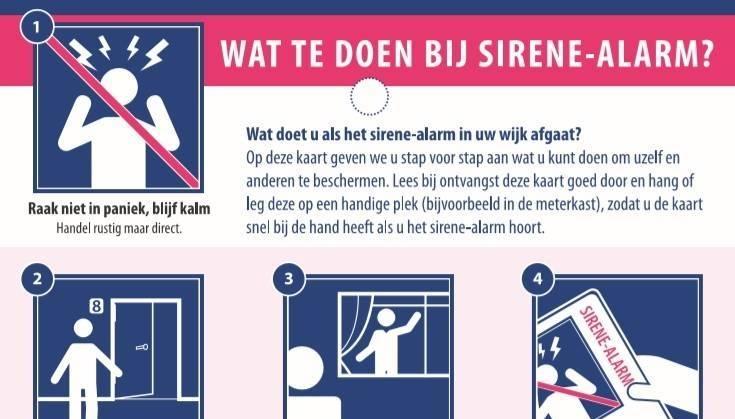 Wat te doen bij een sirene-alarm?